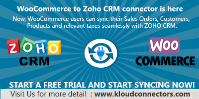 woocommerce to zcrm