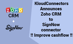 KloudConnectors Announces Zoho CRM to SignNow connector