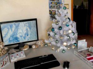 Christmas tree office
