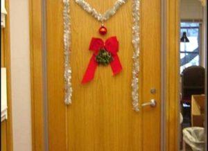 Door Decoration christmas office